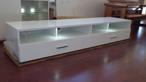 TV Unit,  two drawers, white gloss... A1 Malaga Swan Area Preview