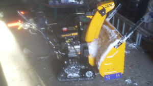 cub cadet 3X28 HDTE track snowblower bought last winter $2400