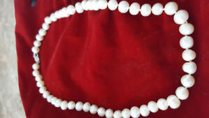 Beautiful freshwater pearl necklace and earrings