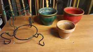 Plant Pots and Holder
