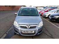 VAUXHALL ZAFIRA 1.6 BREEZE 7 SEATER 1 OWNER MET BLUE FSH ONLY £17 WEEK P/LOAN 58