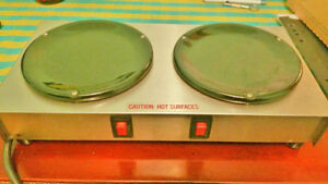 NEW Caferina Electric Dual Hot Plate Coffee Warmer