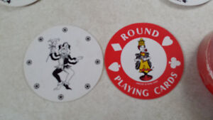 Vintage Round Country Club Playing Cards Belleville Belleville Area image 1