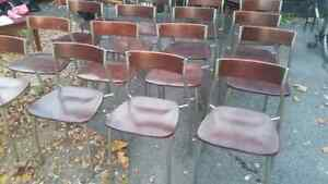 REDUCED!High Quality Wood and Metal Chairs 10$ each Kingston Kingston Area image 3