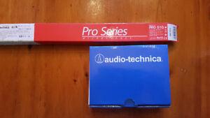 audio technica condenser gooseneck microphone with base
