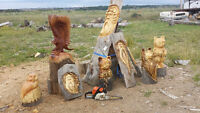 Chainsaw sculputures