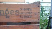 Sunkist Californiaorange crate 1928