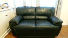Black J H Hicolity leather sofa for sale  Warrington, Cheshire