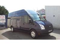 2013 FORD TRANSIT JUMBO 4 METER VAN 125 BHP,METALIC BLUE,SIX SPEED,84K,cars