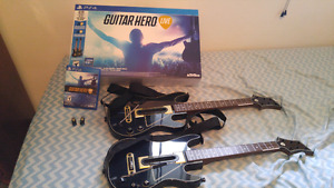 Guitar Hero Live ps4 2 Guitar Bundle COMPLETE