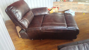 Reclining Chaise lounge sectional piece(leather)