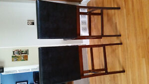 Two wooden bar stools - great condition