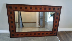 Hand crafted wooden ming mirror.