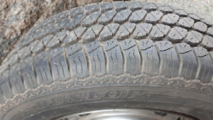 P185/70R14 Dunlop SP32J All Season M+S on rim - one for sale
