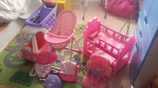 Wondrous Dolls Coupe Bunk Bed And High Chair Swing Set And Car Seat In Llanrumney Cardiff Gumtree Pabps2019 Chair Design Images Pabps2019Com