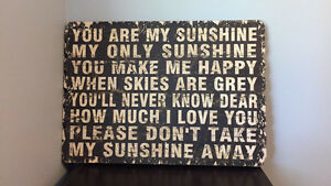 """Wooden """"You are my sunshine"""" art"""