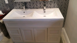 """48"""" Vanity with Double Sink"""