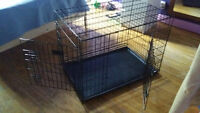 dog or puppy appartment crate cage with division almost new