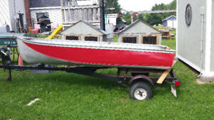 12 foot aluminum boat with 12 hp Johnson motor