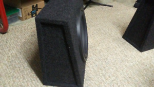 "set of 12"" truck subwoofer boxes"