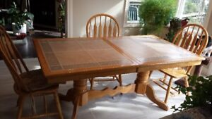 Tile top kitchen table and chairs