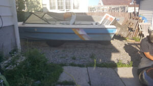 16' Foot Deep and wide boat with 70hp motor