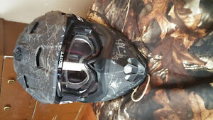 mens atv helmet an goggles