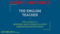 2 for 1 ENGLISH IN MAY
