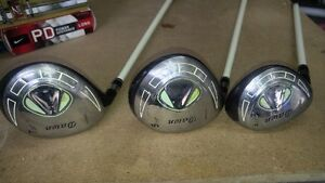 LADIES LH 5 and 7 woods and 4 Hybrid
