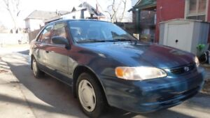 2000 Toyota Corolla VE sedan, Low km, for fix or parts