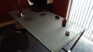 Glass Top Writing Table