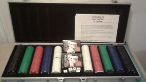Texas Holdem' Poker Set for sale 25.00 Firm.