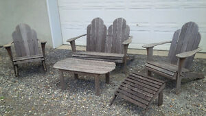 Solid Teak Garden Set