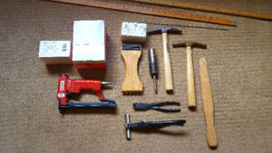 Upholstery Tools & Fabric, Assorted