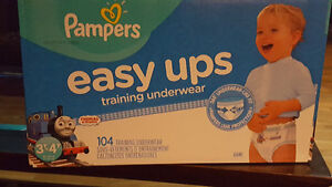 Box of Pampers easy ups