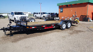 New 2016 Double a 22' equipment trailer
