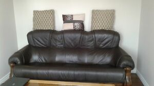 Leather Couch $200 - Rest of Furniture Free