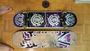 Lightly used skateboard full deck with extra board/bearings Kitchener / Waterloo Kitchener Area image 1