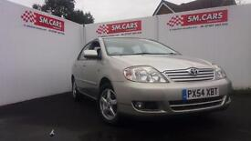 2004 54 TOYOTA COROLLA 1.6 VVT-i T3.ONLY 2 OWNERS. FULL MOT.2 KEYS,GREAT SPEC .