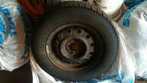 Goodyear Nordic winter tires 195/70/R14 with steel rims(4x100) Kitchener / Waterloo Kitchener Area image 3
