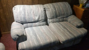 Sofa bed and loveseat