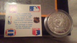 Toronto blue jays 1992 world series champions silver coin