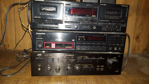 JVC amp, Pioneer CD player and tape deck
