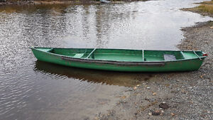 16' Square Stern Poly Canoe - Excellent for Hunting/Fishing