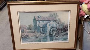LARGE KIERSTEAD FRAMED PAINTING reduced