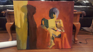 Canvas Oil Painting- Nude Reading