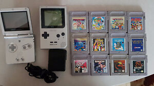 Nintendo GameBoy Pocket and GameBoy Advance SP with games