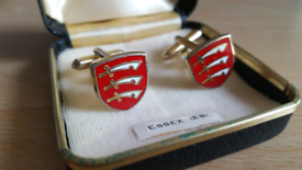Vintage Essex County Shield Cufflinks
