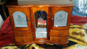 Real wood jewelry box for sale