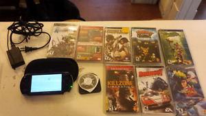 PSP 1000 system with 9 games